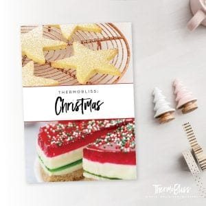 The cover of a recipe book - Thermobliss Christmas