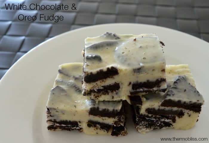 white chocolate and oreo fudge thermobliss