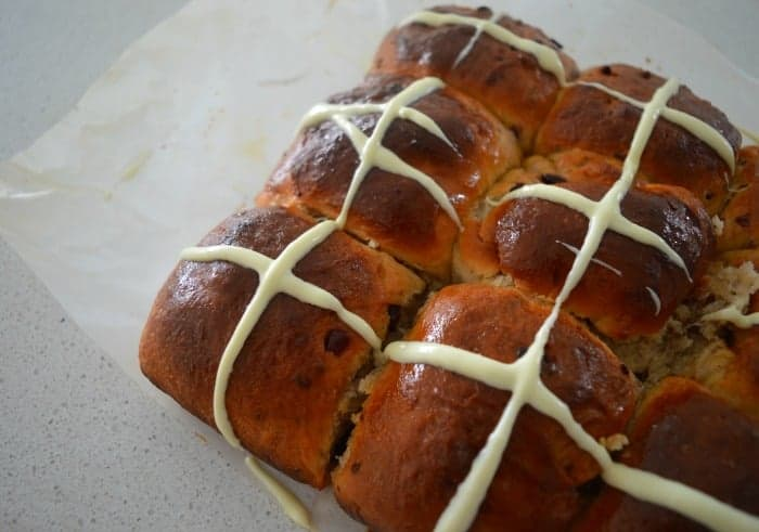 White Chocolate and Cranberry Hot Cross Buns 3