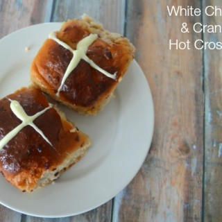Thermomix White Chocolate and Cranberry Hot Cross Buns