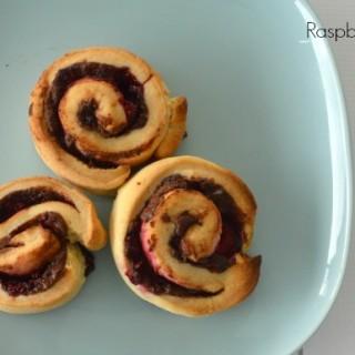 Raspberry and Nutella Scrolls