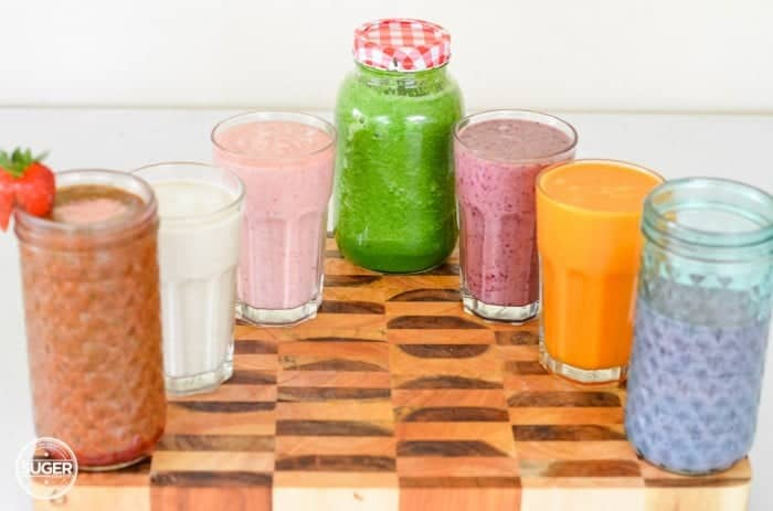 rainbow-smoothie-+-green-juice-summer-fruits-+-vege-2-700x463