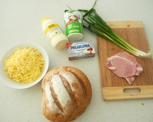 Thermomix Cheese and Bacon Cobb Loaf