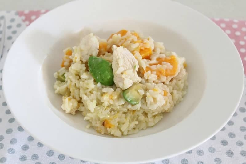 Thermomix Chicken, Avocado & Pumpkin Risotto