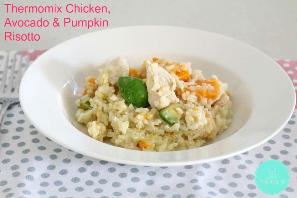 Thermomix Chicken, Avocado & Pumpkin Risotto