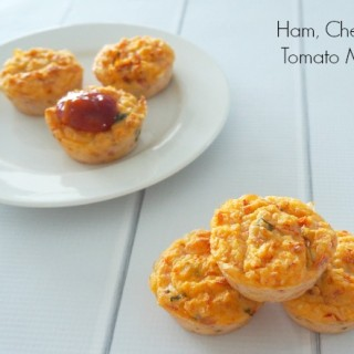 Thermomix Ham, Cheese and Tomato Muffins