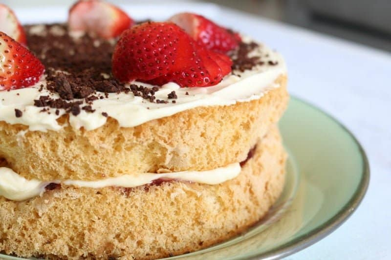 Jam And Cream Sponge Cake Thermomix