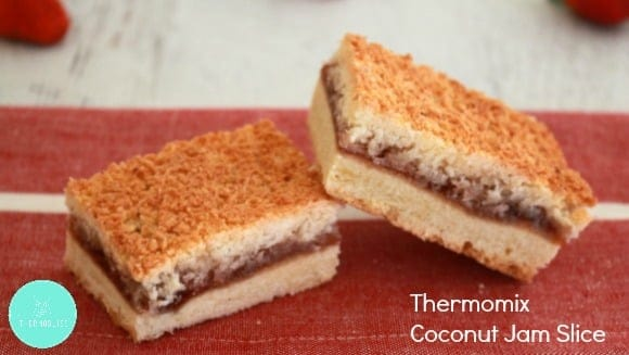 Thermomix Coconut Jam Slice