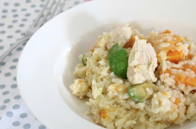 Chicken, Avocado and Pumpkin Risotto