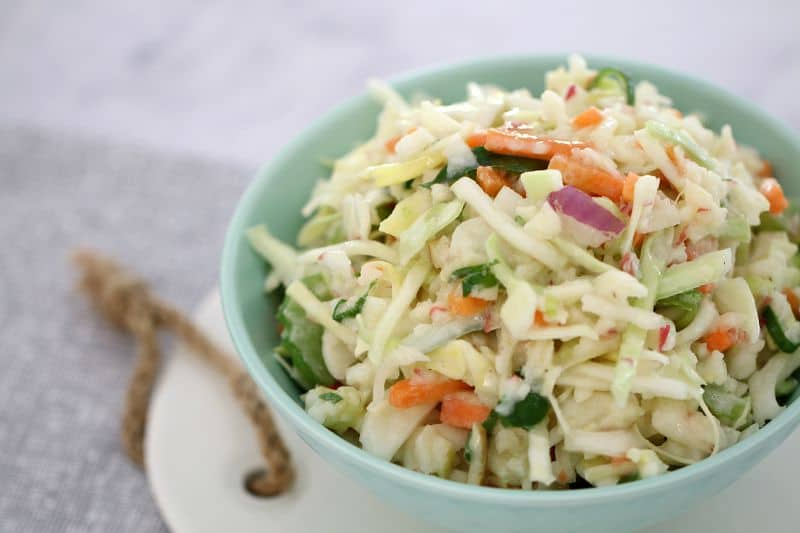 One of Our Favourite Thermomix Salads - Thermomix Apple Coleslaw