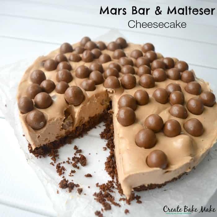 Mars Bar and Malteser Cheesecake