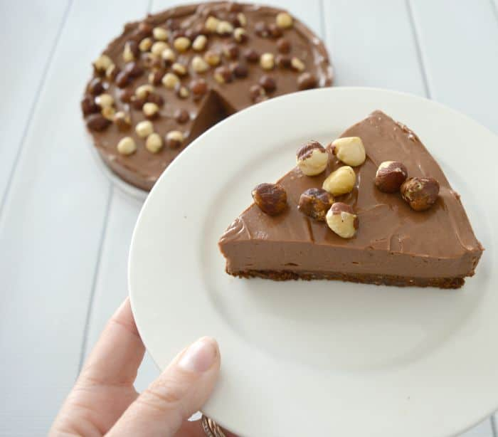 No Bake Chocolate and Nutella Cheesecake 2