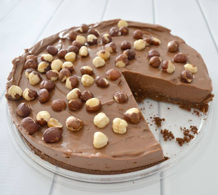 No Bake Chocolate and Nutella Cheesecake