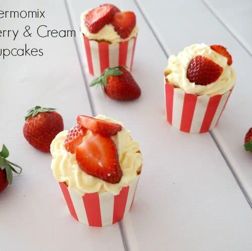Thermomix Strawberry And Cream Cupcakes