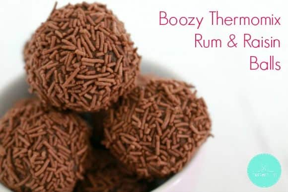 Boozy Thermomix Rum & Raisin Balls