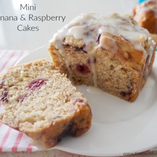 Mini Thermomix Banana and Raspberry Cakes