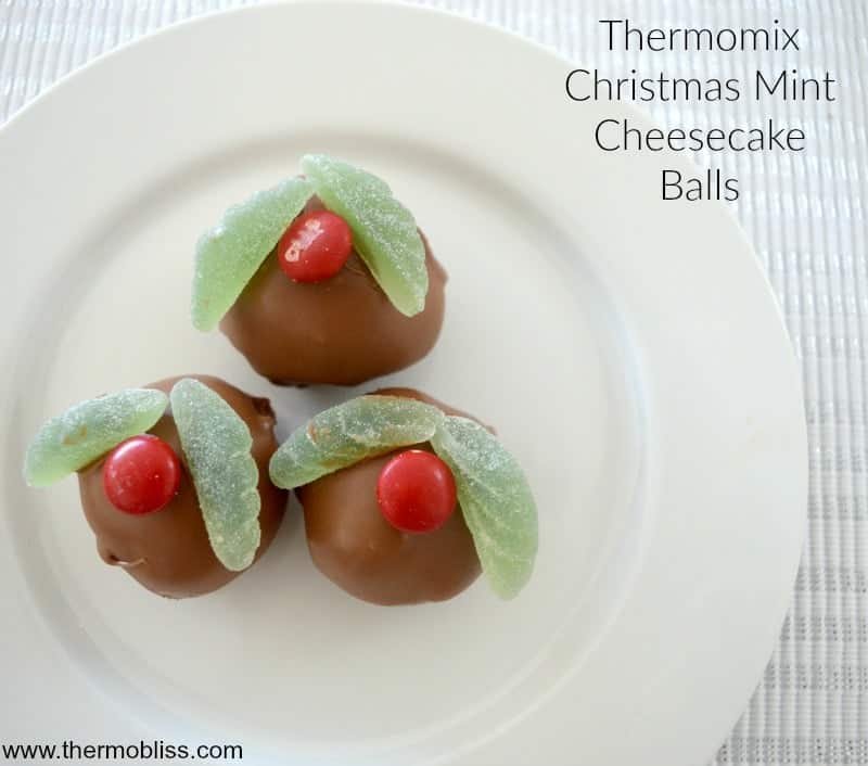 Thermomix Christmas Mint Cheesecake Balls