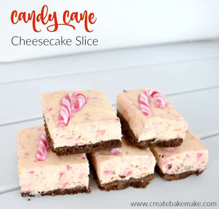 Candy Cane Cheesecake Slice 1