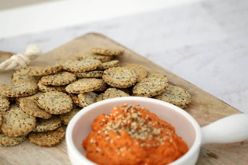 Thermomix Rosemary & Garlic Crackers