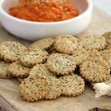 Thermomix Rosemary & Garlic Crackers