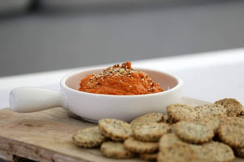 Thermomix Roasted Capsicum & Sun-Dried Tomato Dip