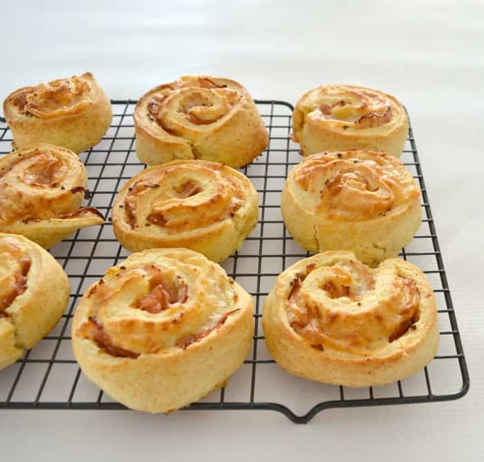 Thermomix Ham and Mustard Scrolls