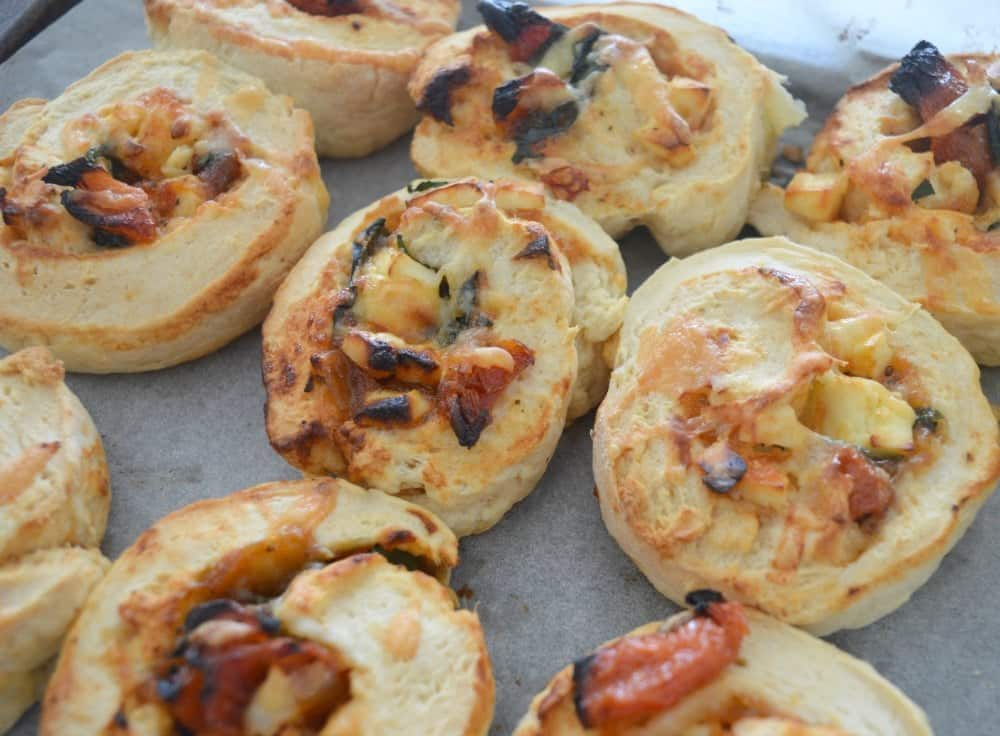 Thermomix Spinach Sundried Tomato and Feta Scrolls