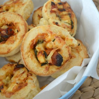 Thermomix Spinach Sun Dried Tomato and Feta Scrolls