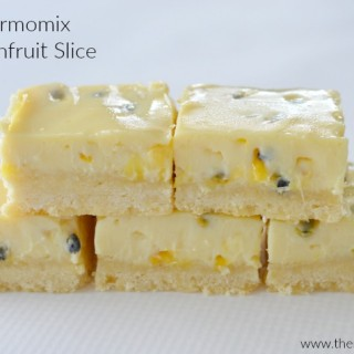 Thermomix Passionfruit Slice