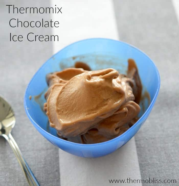 Healthy Thermomix Chocolate Ice Cream