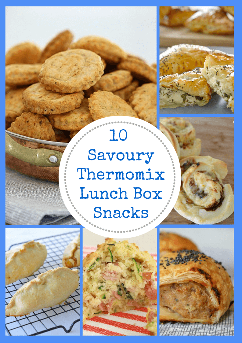 10 Savoury Thermomix Lunch Box Snacks - Thermobliss
