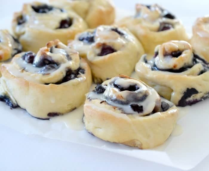 Thermomix Blueberry and Cinnamon Scrolls