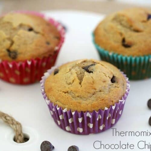 Thermomix Chocolate Chip Banana Muffins
