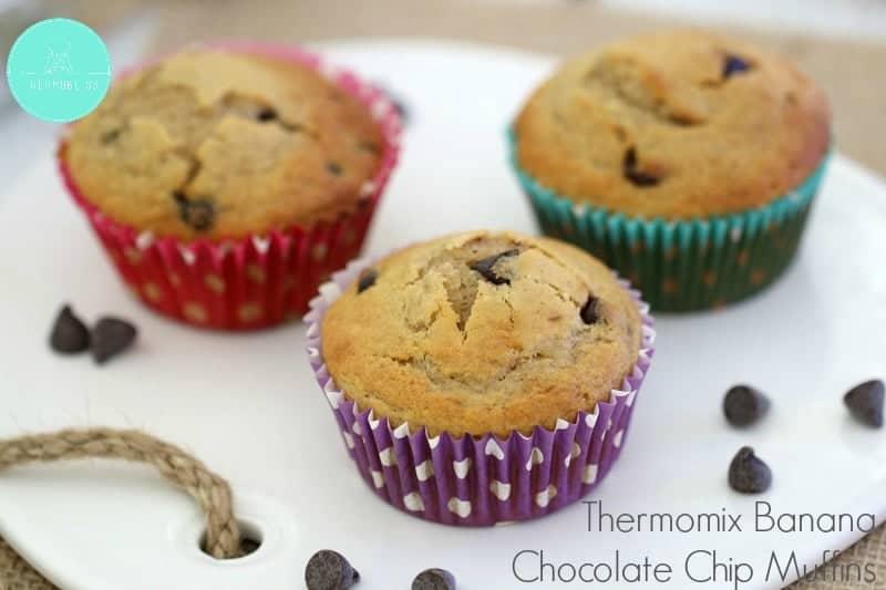 Thermomix Chocolate Chip Banana Muffins