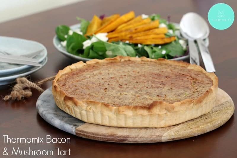 Thermomix Bacon & Mushroom Tart