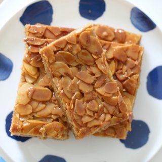 Thermomix Honey Almond Slice