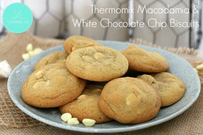 Thermomix Macadamia & White Chocolate Chip Biscuits
