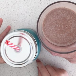 Thermomix Chocolate and Strawberry Smoothie