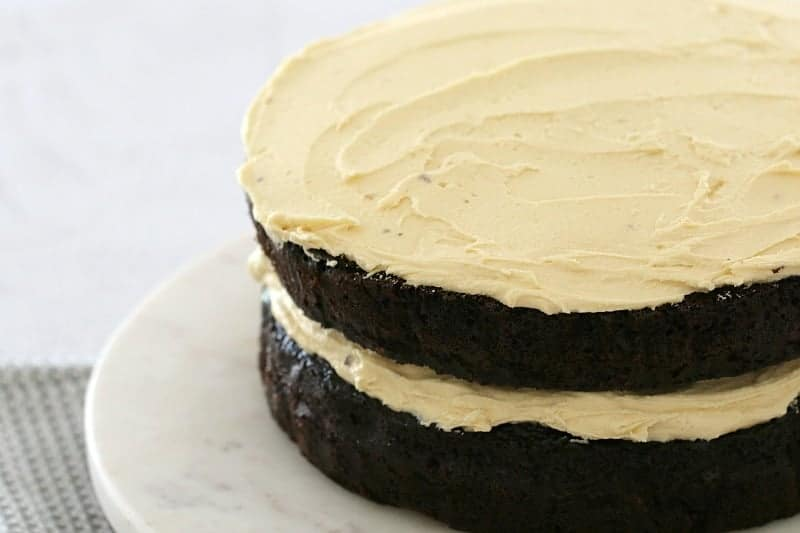 Thermomix Mud Cake with Peanut Butter Frosting