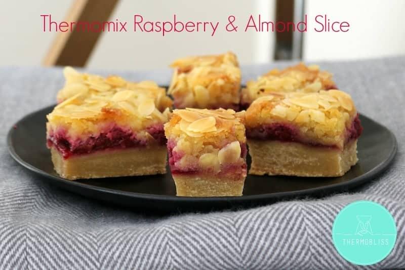 Thermomix Raspberry & Almond Slice