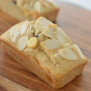Mini White Chocolate, Almond and Cranberry Loaves