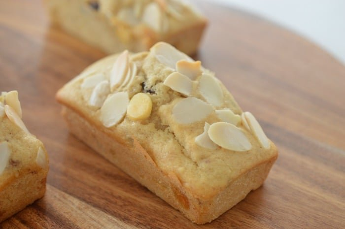 White Chocolate Cranberry and Almond Cakes