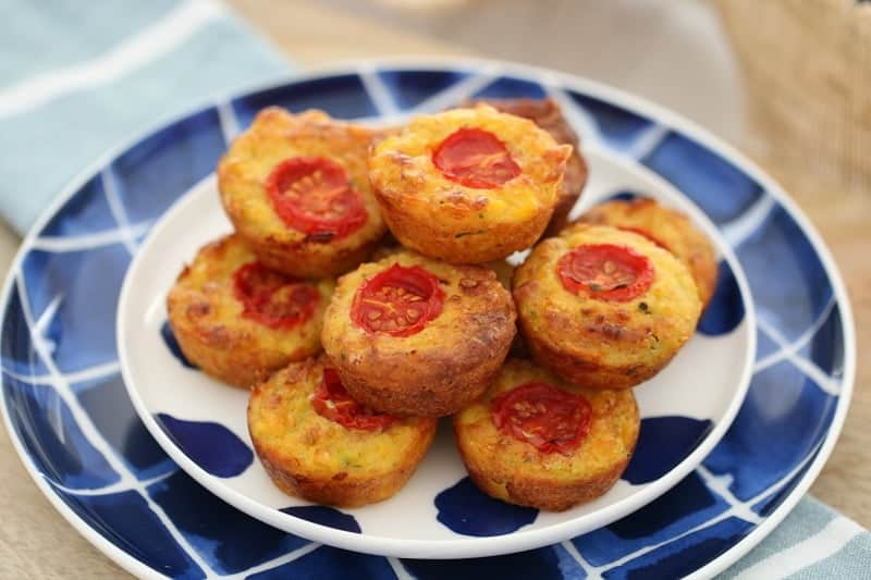 Thermomix Mini Vegetable Ham Quiches