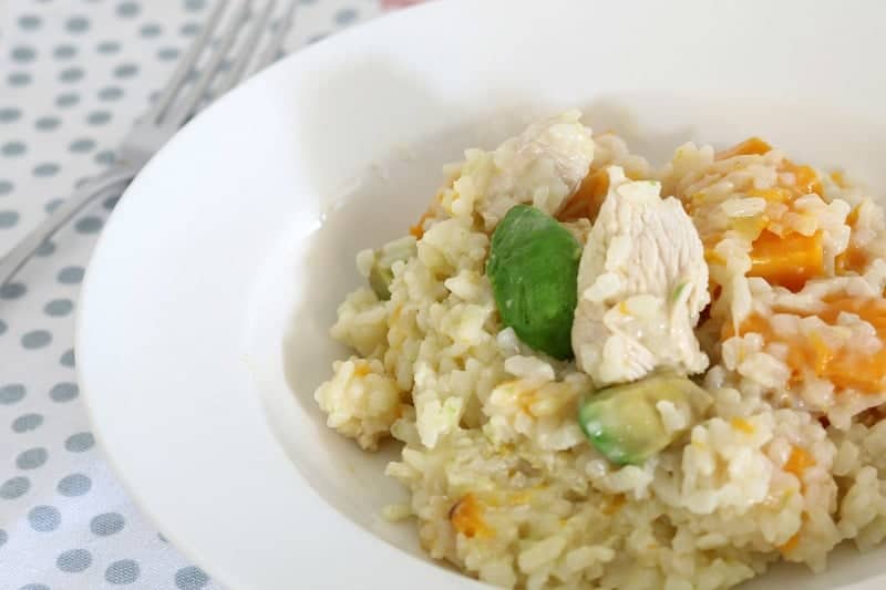 One of our most popular Thermomix recipes: Chicken, Avocado and Pumpkin Risotto