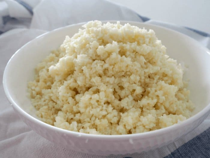 Thermomix Cheesy Cauliflower Rice