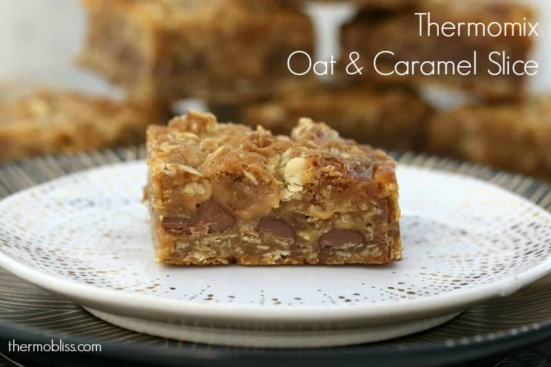 Thermomix Oat & Caramel Slice