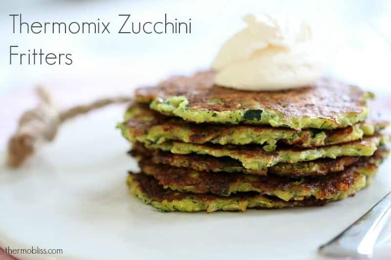 Thermomix Zucchini Fritters