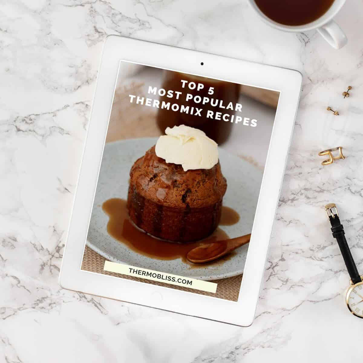 A recipe book cover - Top 5 Most Popular Thermomix Recipes