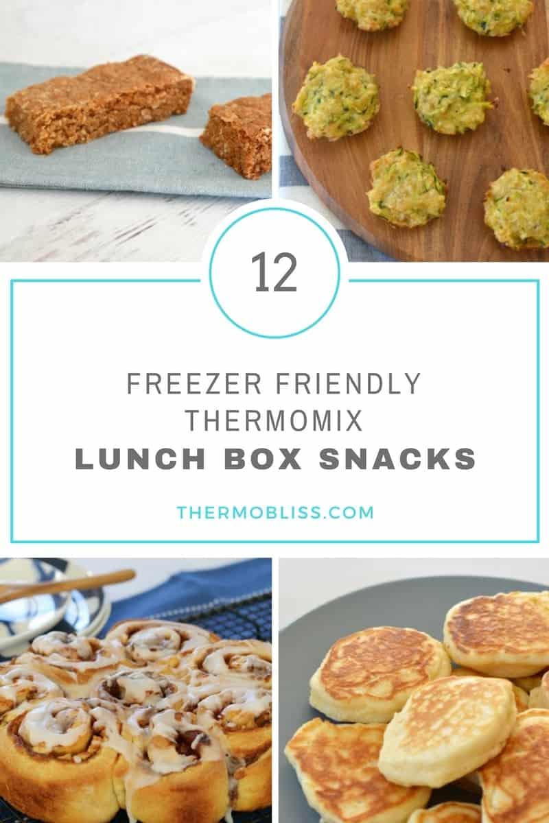Freezer-friendly Thermomix Lunch Box Snacks