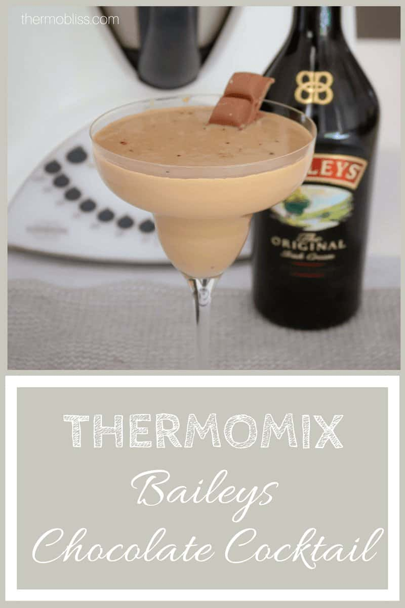 A deliciously creamy Thermomix Chocolate Baileys Cocktail with a hint of coffee.. and extra chocolate!! Ready in less than 5 minutes!